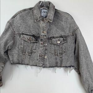 Zara cropped jeans jacket